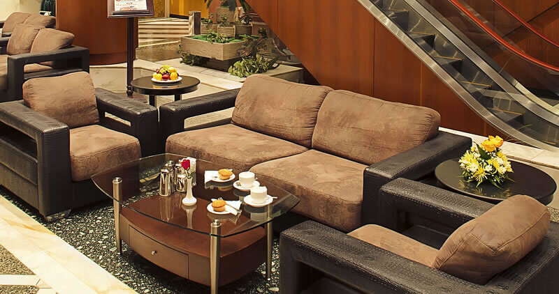 Lounge area of Admiral Plaza Hotel